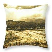 Wide Open Tasmania Countryside Throw Pillow