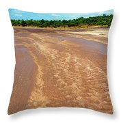 Wide Thwake River Throw Pillow