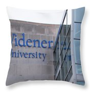 Widener University - Metropoliton Hall Throw Pillow