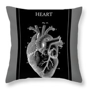 Widow Maker Heart 2 Throw Pillow