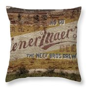Wiener Maerzen Beer Sign Victor Co Img_8703 Throw Pillow