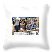 Wieners Throw Pillow