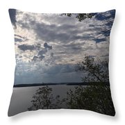 View Across Wappapello Lake Throw Pillow