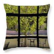 Wiew Out The Window Throw Pillow