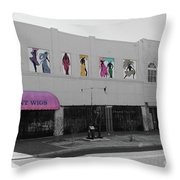 Wig Row Throw Pillow