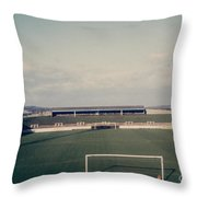 Wigan Athletic - Springfield Park - The Grassy Bank 1 - 1969 Throw Pillow