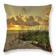 Wiggins Pass Sunset Throw Pillow
