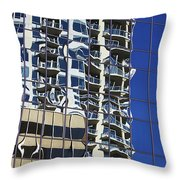 Wiggly Balconies Throw Pillow
