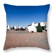 Wigwam Motel #2 Throw Pillow