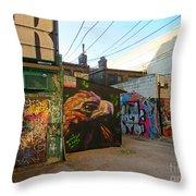 Wild Alley Throw Pillow