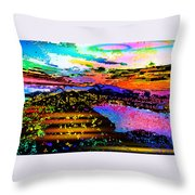 Wild And Crazy Mountainous Sunset Throw Pillow
