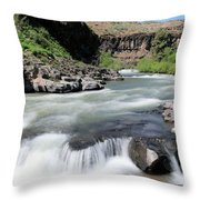 Wild And Scenic White River Throw Pillow