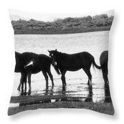 Wild At Twilight Throw Pillow