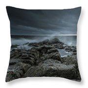 Wild Baltic Sea Throw Pillow
