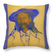 Wild Bill Hickok Throw Pillow by Johanna Elik