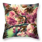 Wild Blossoms Throw Pillow