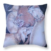 Wild Boar And Dogs Throw Pillow