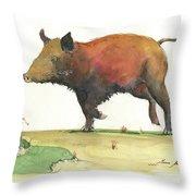 Wild Boar Delgadin Throw Pillow
