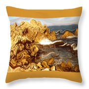 Wild California Coast - Modern Art Throw Pillow