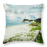 Wild Coastline Throw Pillow