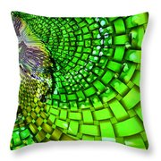 Wild Curves Abstract Throw Pillow