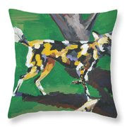 Wild Dogs Throw Pillow