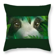 Wild Eyes - Giant Panda Throw Pillow