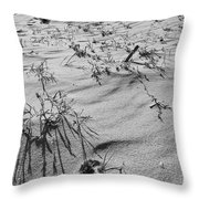 Wild Flora And Dunes Throw Pillow