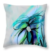 Wild Flower Abstract Throw Pillow