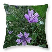 Wild Flowers 2 Throw Pillow