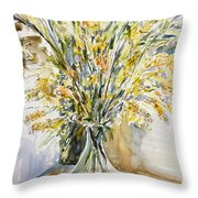 Wild Flowers #3 Throw Pillow