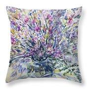 Wild Flowers #4 Throw Pillow