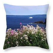 Wild Flowers And Iceberg Throw Pillow