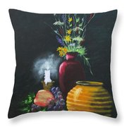 Wild Flowers And Things Throw Pillow