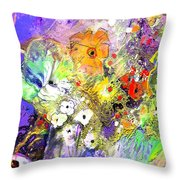 Wild Flowers Bouquet 02 Throw Pillow