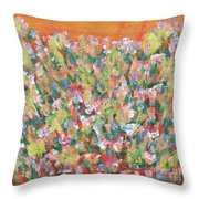 Blooming With Joy Throw Pillow