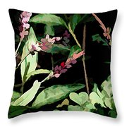 Wild Flowers In Pastel Throw Pillow