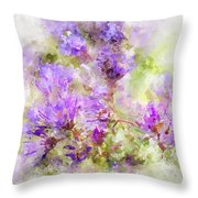 Wild Flowers In The Fall Watercolor Throw Pillow by Michael Colgate