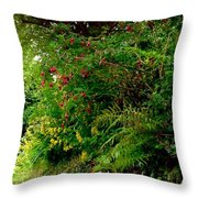 Wild Flowers On The Cliff Path Throw Pillow