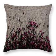 Wild Flowers On The Wall Throw Pillow