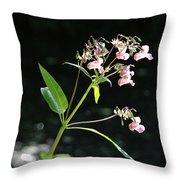Wild Flowers Over Stream Throw Pillow