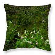 Wild Garden #3 Throw Pillow