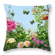 Wild Garden Throw Pillow