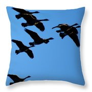 Wild Geese In The West Throw Pillow