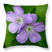 Wild Geranium Throw Pillow