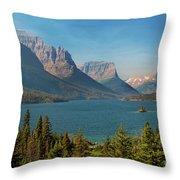 Wild Goose Island - Glacier National Park Throw Pillow