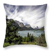 Wild Goose Island Glacier Park 2 Throw Pillow