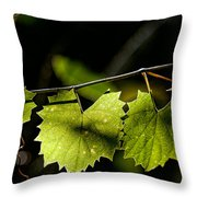 Wild Grape Leaves Throw Pillow