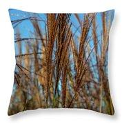 Wild Grass Throw Pillow