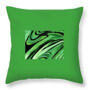 Wild Green Throw Pillow